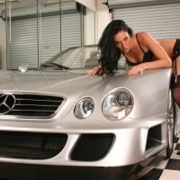 Dögös lány autós  képe