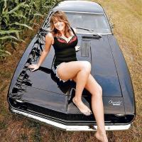 Dögös nő autós  fotója