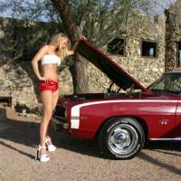 Ellenállhatatlan nő autós  felvétele
