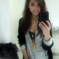 Gyönyörű ázsiai lány fotója