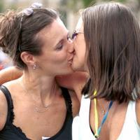 Napi leszbik – Csók